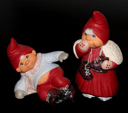 gnomes christmas garnish