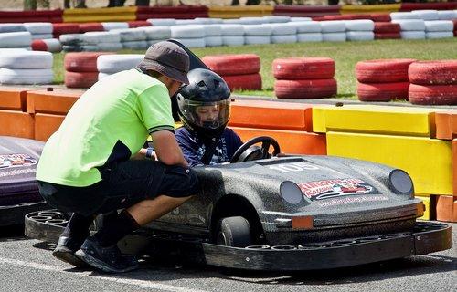 go cart  racer  driver