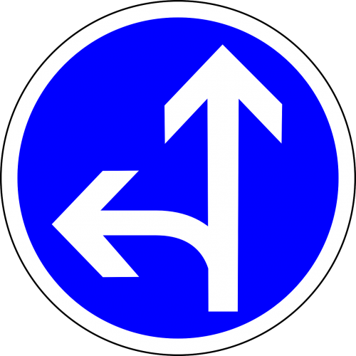 go straight or left straight left