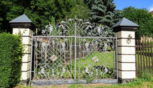 tikslas,sodo vartai,kalvotas geležis,geležis,senas,nostalgija