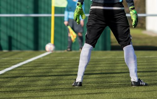 goalkeeper football football pitch