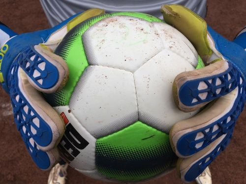 goalkeeper football ball