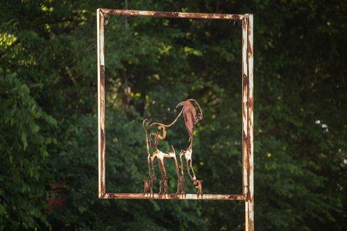 goat  livestock  sign