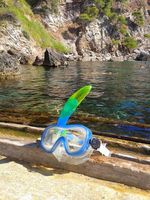 goggles diving sea mallorca