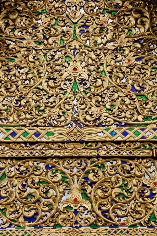 gold pattern decoration