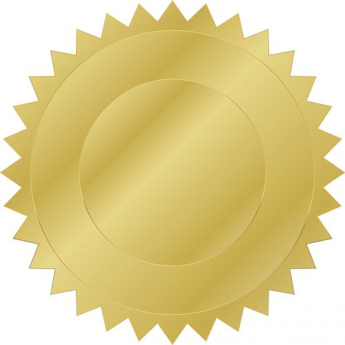 gold medal plaque
