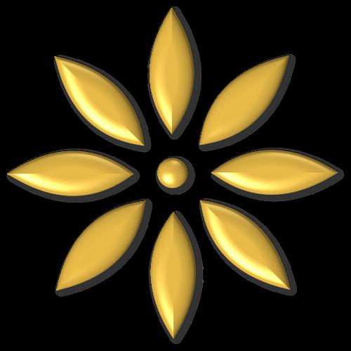 auksas,metalas,blizgantis,gėlė,ornamentas,blizgus,geltona,aštuoni,pažymėtas,žiedlapiai,aštuoni petali,8 petali,auksinis,apdaila,skaidrus,vaizdas,nuotrauka