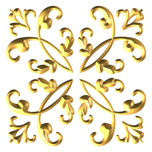 gold metallic decorative