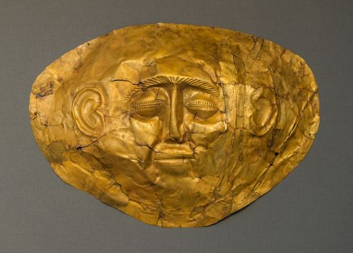 gold funeral mask ancient