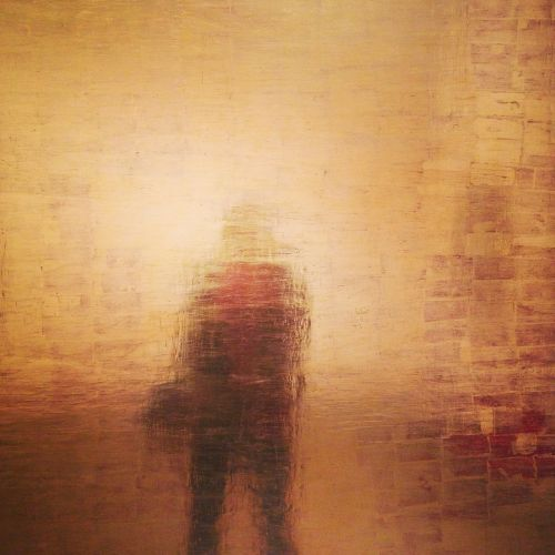 gold abstract portrait silhouette