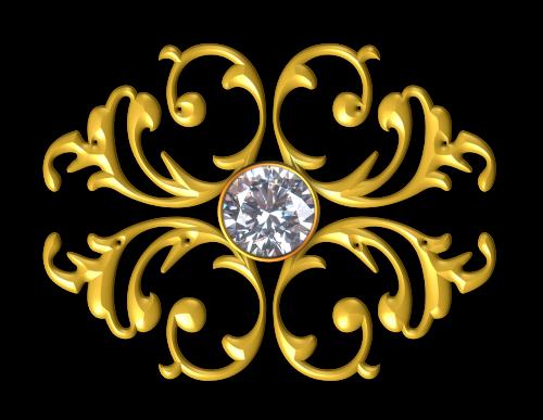 gold ornament gem