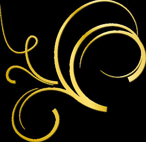 gold ornament deco