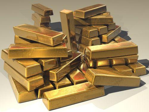 gold ingots golden