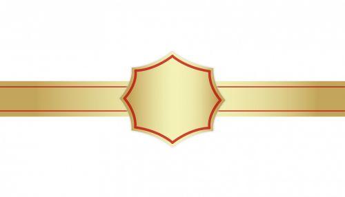 Gold Badge Ribbon Award