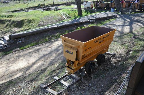gold cart mine cart cart