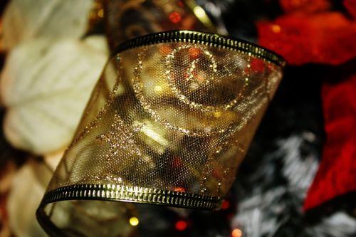 aukso & nbsp, Kalėdų & nbsp, juosta, auksas, Kalėdos, juosta, sezonas, apdaila, auksinė Kalėdų juosta