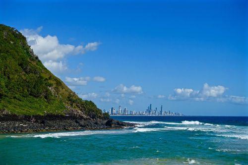 Auksinė pakrantė,kranto,australia,pakrantė,dangoraižiai,Queensland,kraštovaizdis,papludimys