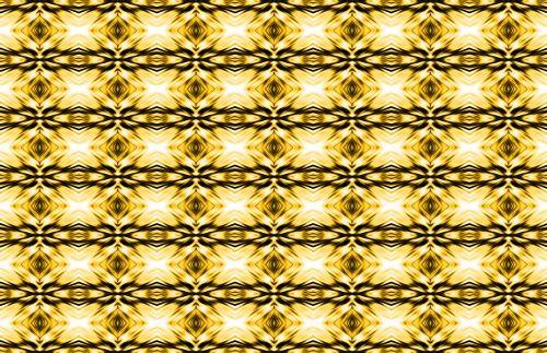 Gold Diamond Shape Repeat