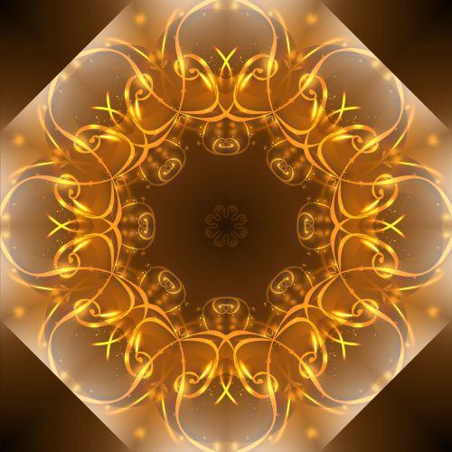 Gold Flourish Pattern Background