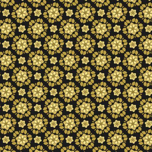 Gold Flowers Pattern