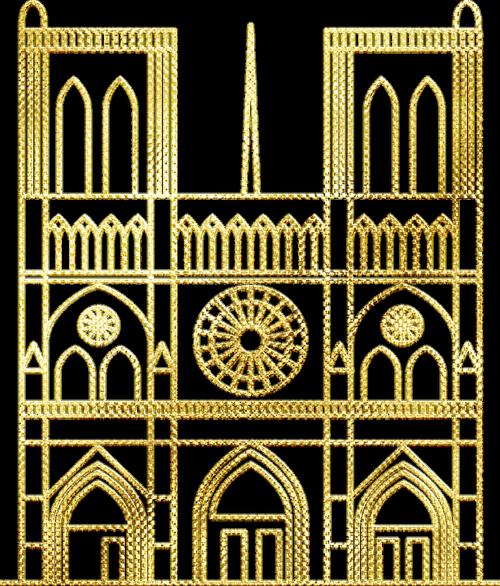 gold foil notre dame  church  paris