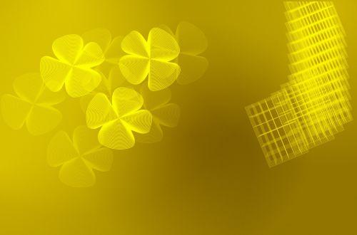 Gold Four-Leaf Clover Background