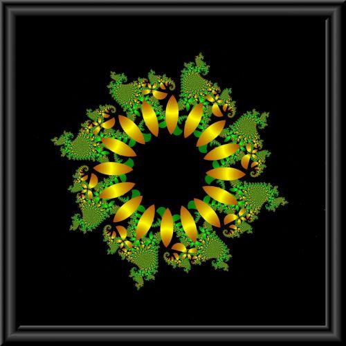 Gold Green Flower