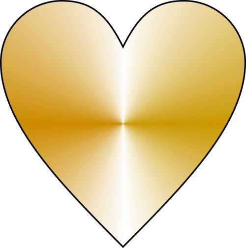 Gold Plated Heart