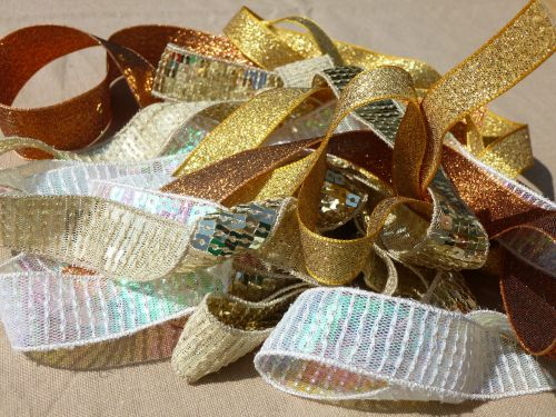 gold ribbon trims sewing