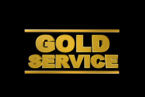 gold service quality service