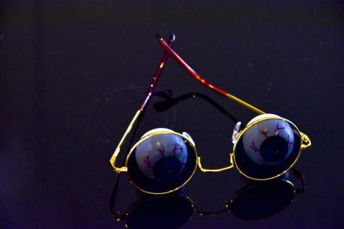 Gold Sunglasses With Eyeballs