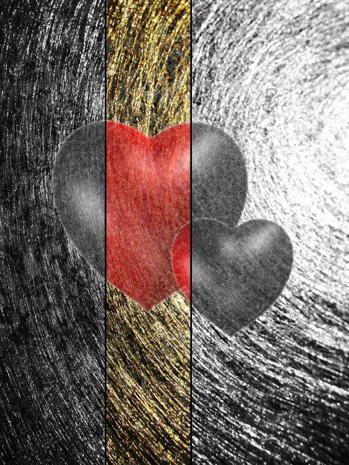 gold threads heart love