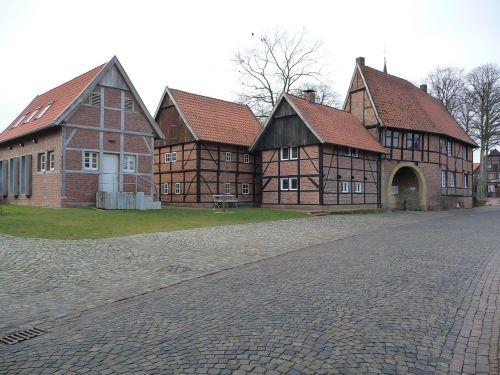 gold village historical monument timber framed building