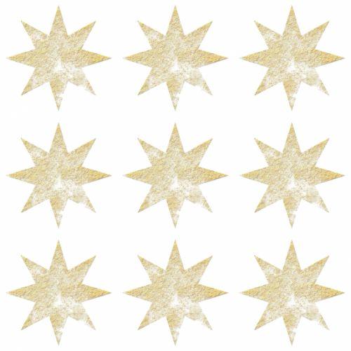 Gold White Stars