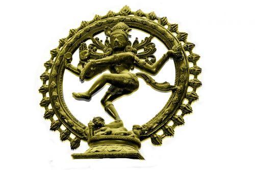 golden natraj dancing shiva