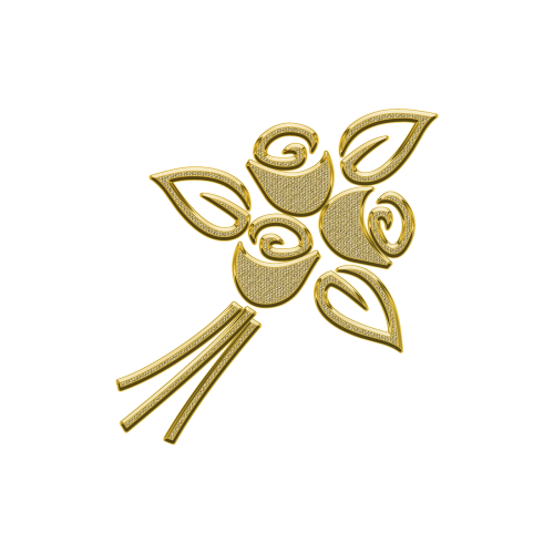 golden ornament decor