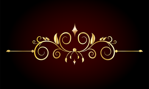 golden border  ornament  design