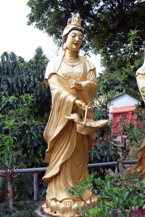 auksinė & nbsp, buda, auksinis, buda, auksas, deivė, statula, tikėjimas, hong & nbsp, kong, kelionė, kelionė, turizmo & nbsp, vietoje, auksinė buda 02