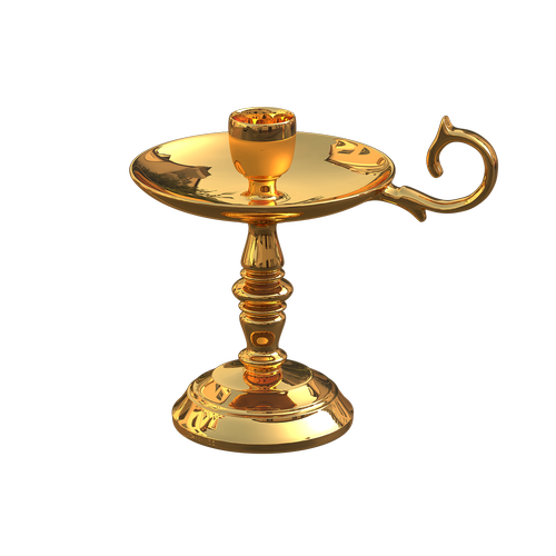 golden candlestick  stand for candles  Free illustrations