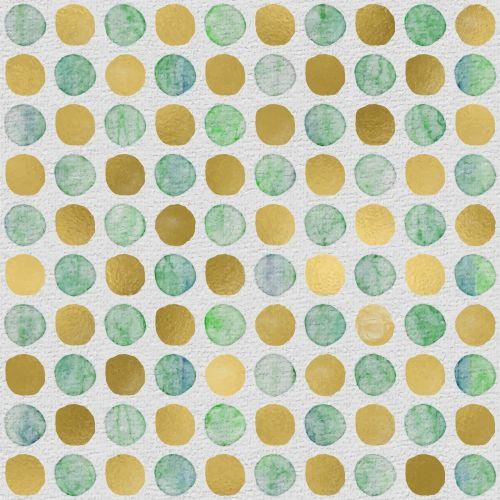 golden dots watercolor dots mixed media