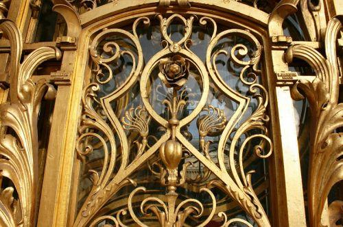 golden gate golden flower art nouveau
