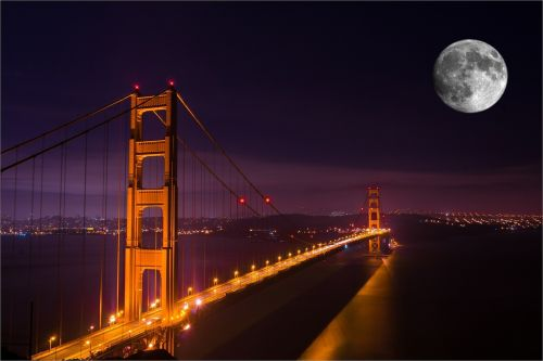 golden gate bridge night bridge