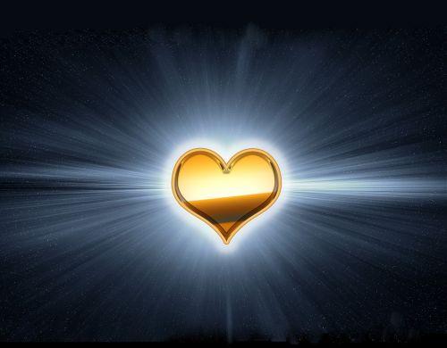 golden heart gold heart radiant