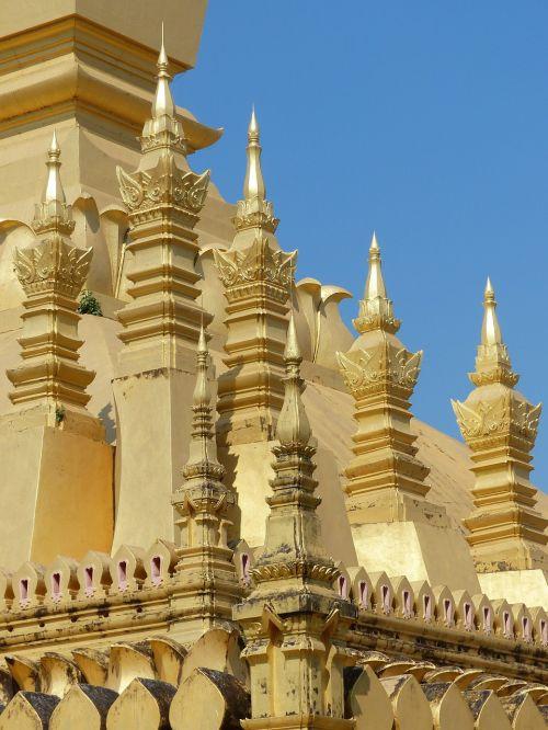 golden stupa pagoda gold