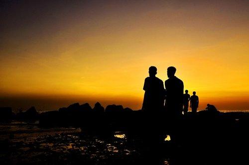 golden sunset  beautiful sunset  landscape