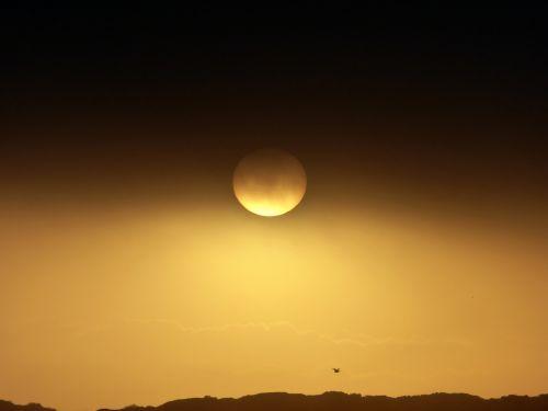 Golden Sunset Background