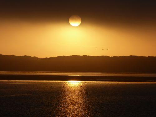 Golden Sunset Over Water