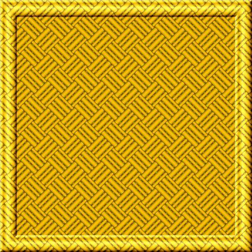 Golden Weave Framed