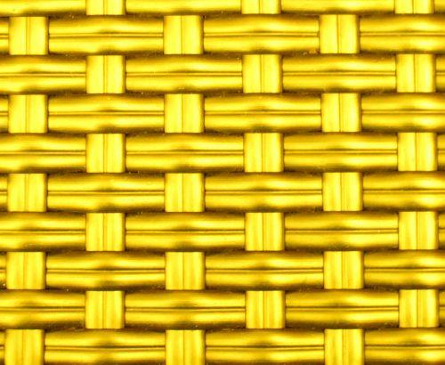 Golden Yellow Metallic Basket