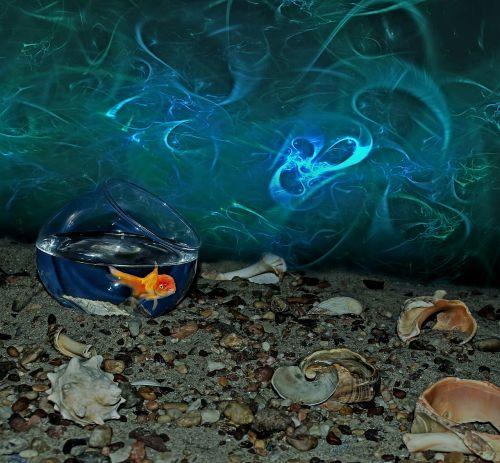 goldfish aquarium sand